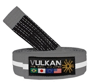 Vulkan Kids Belt - GRAY w/ WHITE Stripe,