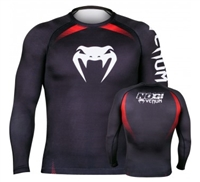 Venum No Gi Rash Guard IBJJF Approved - Long Sleeves - Black/Red