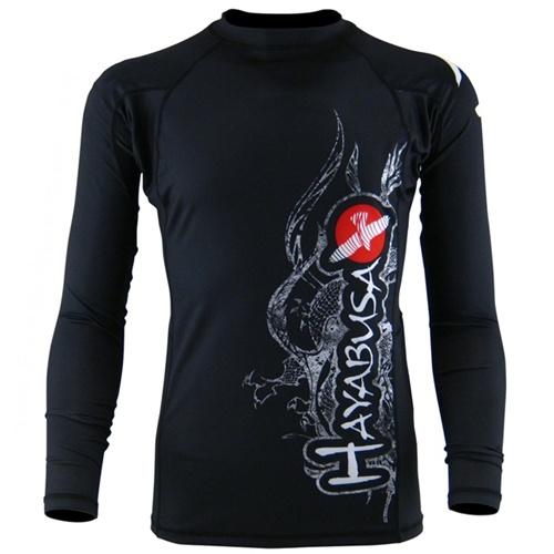 Hayabusa mizuchi rashguard long sleeve black