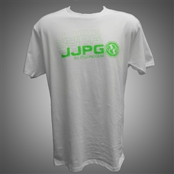 JJPG T-shirt - Frequency Tee - White with Green Print