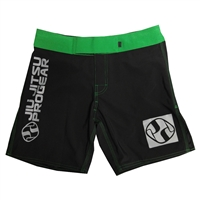 Jiu Jitsu ProGear Kids Shorts - Belt Ranked - Green