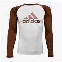 Adidas - Rash Guard - IBJJF Competition Rashguard - Brown Belt