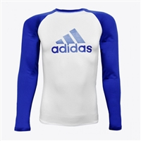 Adidas - Rash Guard - IBJJF Competition Rashguard - Blue Belt