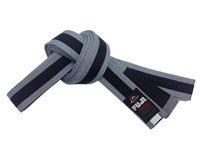 Fuji IBJJF Approved Kids Belt - Grey/Black