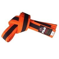 Fuji IBJJF Approved Kids Belt - Orange / Black