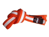 Fuji IBJJF Approved Kids Belt - Orange / White