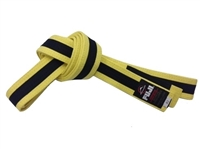 Fuji IBJJF Approved Kids Belt - Yellow / Black