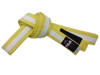 Fuji IBJJF Approved Kids Belt - Yellow / White