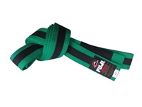 Fuji IBJJF Approved Kids Belt - Green / Black