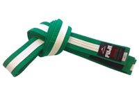 Fuji IBJJF Approved Kids Belt - Green / White