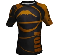 Fuji Freestyle IBJJF Ranked Rashguard Short Sleeve - Brown