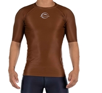 FUJI Baseline Ranked Short Sleeve Rashguard Brown
