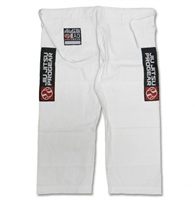 Jiu Jitsu Progear Rip-Stop PANTS ONLY - WHITE (Red Patch)