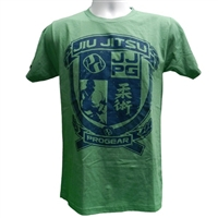 Jiu Jitsu Progear Emblem Tshirt - Heather Green