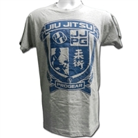 Jiu Jitsu Progear Emblem Tshirt - Heather Gray