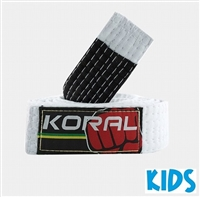 Koral BJJ Kids Belt - White