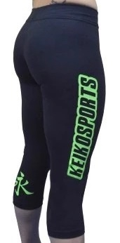 Keiko Womens Training Capri - Black/Green