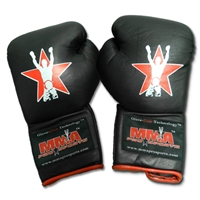"MMA Pro Sports ""Old School"" Lace Up Gloves - Black"