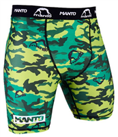 "MANTO ""CAMO"" Compression Shorts Green"