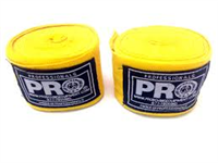 Pro Boxing Hand Wraps - Yellow