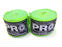 Pro Boxing Hand Wraps - Neon Green
