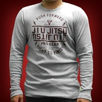 Jiu Jitsu ProGear Thermal - Push Forward - Heather Gray with Cardinal Design