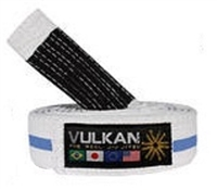 Vulkan Adult BJJ Belt - White/Blue