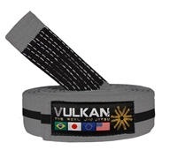 Vulkan Kids Belt - GRAY w/ BLACK Stripe,