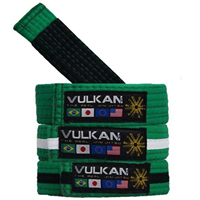 Vulkan Kids Belt - Green w/ White