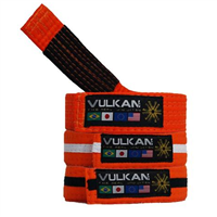 Vulkan Kids Belt - Orange w/ White