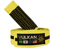 Vulkan Kids Belt - YELLOW w/ BLACK Stripe,