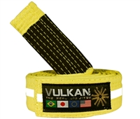 Vulkan Kids Belt - YELLOW w/ WHITE Stripe,