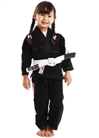 Vulkan ULTRA Light Girls Kids Gi - BLACK with PINK patches - Youth Size - Youth Size