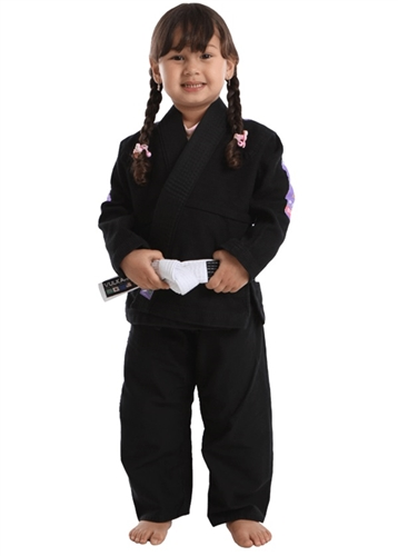 Vulkan Pro Light KIDS Jiu-Jitsu Gi - BLACK with LILAC Patches