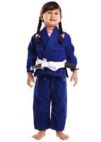 Vulkan ULTRA Light Girls Kids Gi - BLUE with PINK patches - Youth Size