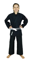 Vulkan Girls PRO EVOLUTION KIDS Jiu-Jitsu Gi - Black