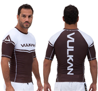 Vulkan Power Comp Rashguard Short/Sleeve Brown