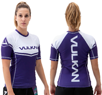 Vulkan Power Comp Rashguard Short/Sleeve Purple