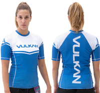 Vulkan Power Comp Rashguard Short/Sleeve Blue