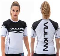 Vulkan Power Comp Rashguard Short/Sleeve White