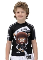 JUMP Short Sleeve KIDS Rashguard Black