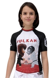 SUNSET Short Sleeve KIDS Rashguard Black