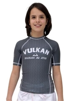 FIRST Short Sleeve KIDS Rashguard Gray