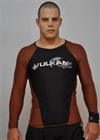 Vulkan IBJJF Long Sleeve Rashguard Brown