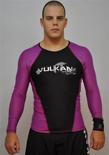 New Vulkan IBJJF Long Sleeve Rashguard Purple