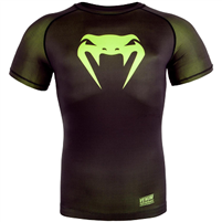 Venum Contender 3.0 Compression T-shirt - Short Sleeves - Black/Neo Yellow