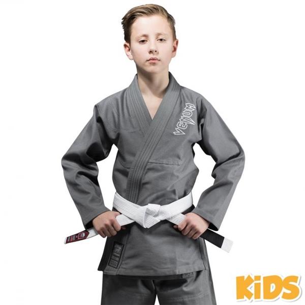 VENUM JIU JITSU GI KIMONO MARTIAL ARTS YOUTH KIDS CONTENDER BLACK