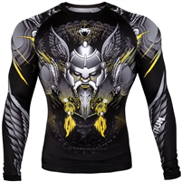Venum Viking 2.0 Rashguard - Long Sleeves - Black/Yellow