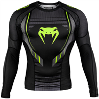 Venum Technical 2.0 Rashguard Long Sleeves - Black/Yellow