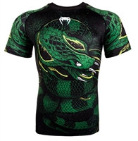 Venum Green Viper Rashguard - Short Sleeves - Black/Green